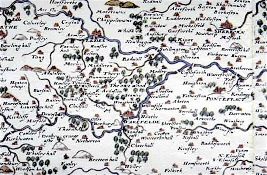 Early Maps of Gildersome The History of Gildersome